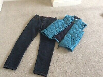 Boys Ted Baker Jeans And Body Warmer Age 14 Years In Good Condition