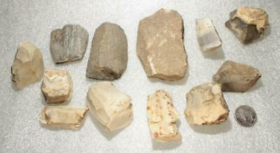 SOLD OUT UNTIL END OF FEBstone axe fragments+blade/tool cores european Neolithic