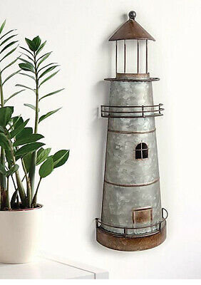 NAUTICAL DECOR ASSATEAGUE LIGHTHOUSE METAL WALL SCULPTURE WALL SCULPTURES