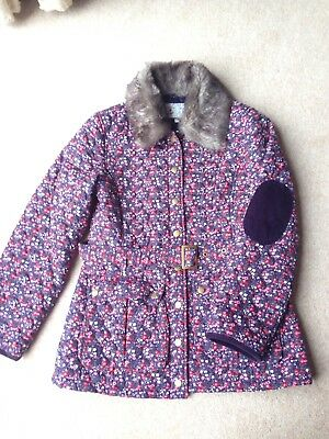 M&S Marks & Spencer floral quilted jacket coat age 13-14yrs size 6-8 BNWOT