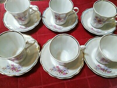 6 - KOROSTEN PORCELAIN CHINA UKRANIE 12 pieces # 1904. Beautiful Pearl