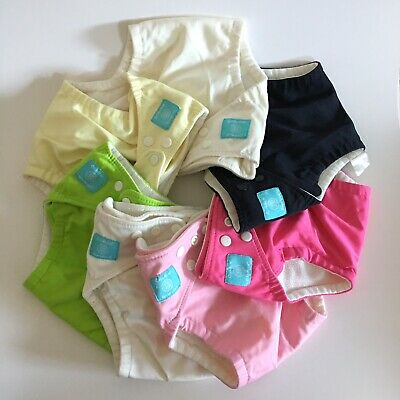 Charlie Banana Diapers Lot 7 One Size , Microfiber Inserts 5 Sm & 5 Med/LG