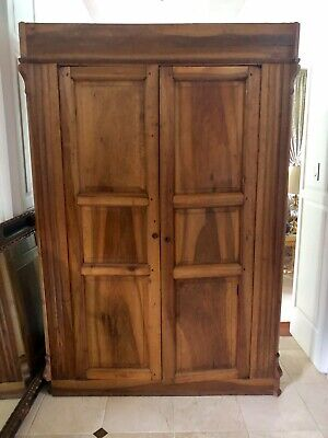 Large Antique Armoire 85x56x21, Two Interior Rods, Four Drawers. Classic