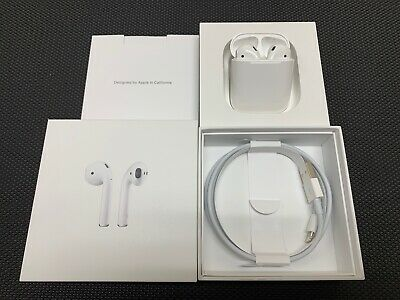 NEW Apple AirPods 2nd Generation with Wired Charging Case White MV7N2AM/A