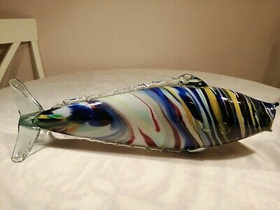 Vintage Retro Very Large Murano Art Glass Fish Ornament 1960s, 70s, 48cm Long