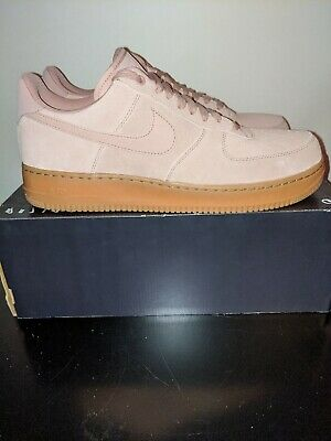 AA1117 600 NIKE Air Force 1 Low '07 Lv8 Suede Pink Gum Rose