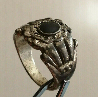 Extremely Rare Ancient Medieval Silver Ring
