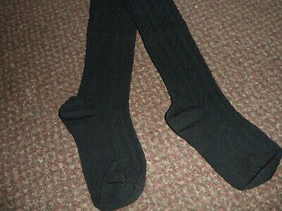 BNWOT Girls trendy black textured Tights 3-4 YEARS from f+f