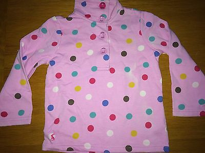 JOULES New Cowdray Sweatshirt - Soft Pink Spotty Age 4