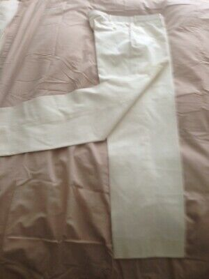 Ralph Lauren mens 100% cotton trousers w35 leg 32 white.