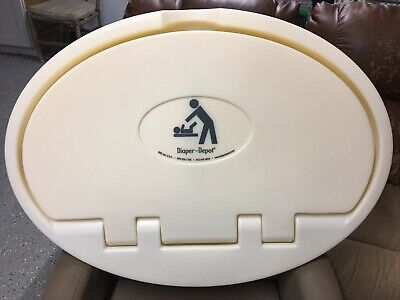 Wall Mounted Baby Changing Station Horizontal Fold-Down Diaper Depot NOS