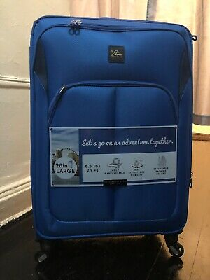 Skyway Zero Gravity 28 In Soft Side Expandable Spinner Upright Luggage Bag Blue
