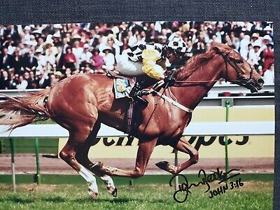 Saintly Signed A4 1996 Melbourne Cup Photograph.