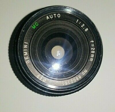 Gemini MC Auto 1:2.8 F=28mm Wide Angle Lens For Pentax K parts only broken parts