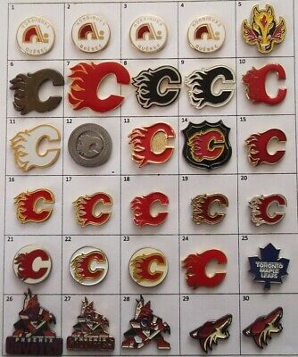Different Teams (Calgary Flames ++++)  Nhl Hockey Logo Pin (Your Choice) # G862