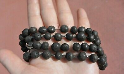 Chinese Herb Medicine Chenxiang Aloeswood Prayer Rosary Bead Necklace 紫金锭藥珠