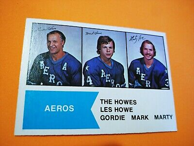 1974-75 OPC WHA #1 The Howes Mark, Marty and Gordie Howe Houston Aeros