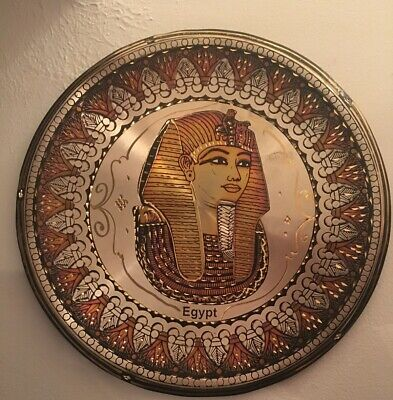 Wall Hanging Egyptian Plate Hand Made Copper