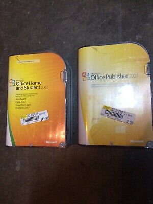 Microsoft Office Publisher 2007 and Office Home and Student genuine