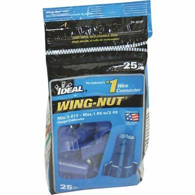 Ideal 30-454 Wing-Nut 454 Wire Connector, Blue (Pack of 25)