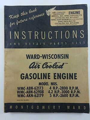 WARD-WISCONSIN AIR COOLED GASOLINE ENGINES MM-260A Instructions And Repair
