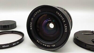 * Exc+++ * YASHICA LENS ML 24mm F2.8 C/Y Mount *Mirrorless digital camera only*