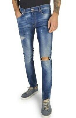 DIESEL TEPPHAR Made Italy Aged Destroy Slim Carrot Stretch Jeans Mens W28 $330