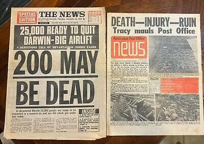 Cyclone Tracy 1974 1975 Newspaper Front Pages The News Adelaide Post Office News
