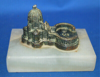 An antique Vatican architectural model, alabaster base