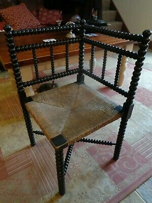 William Morris Style Arts & Crafts Bobbin Turned Corner Chair