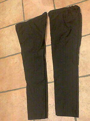 Marks and Spencer skinny boys black school trousers 12-13