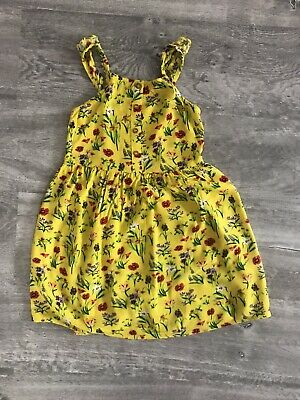 Next Girls Yellow Floral Dress Age 7 Years