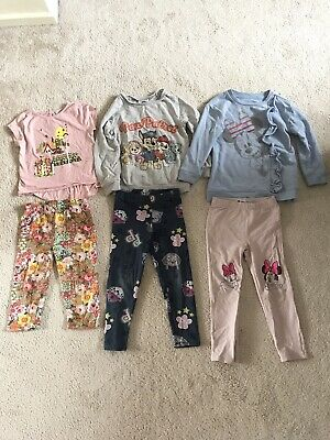 Girl's Paw Patrol Disney Minnie Mouse Flowers Outfit Set Bundle Sweater Leggings