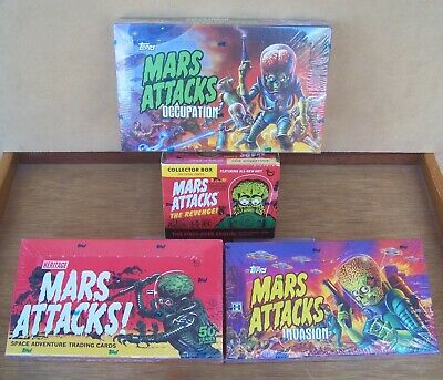 Mars Attacks box lot 4 sealed boxes Heritage Invasion Occupation Revenge. Sketch