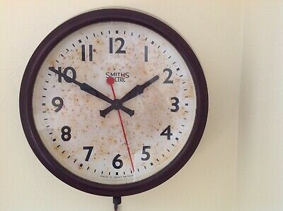 Smiths Bakelite SECTRIC DELHI Vintage Wall Clock - MADE IN ENGLAND-WORKING