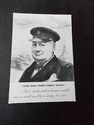 "Winston Churchill postcard, ""This Was Their Finest Hour"", Valentines"