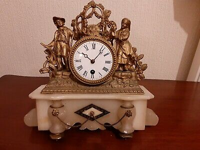 French Marble And Brass Clock. Spares.