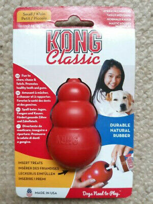 KONG Classic Red Dog Toy SMALL Teething Chew Snack Treat Dispenser Paste Biscuit