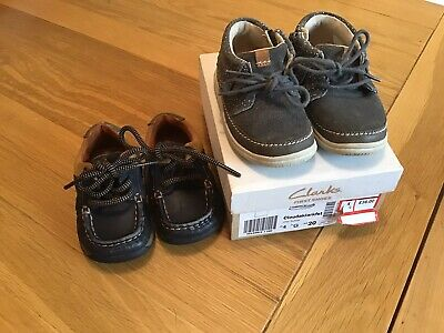 Baby Boy Clarks Shoes Size 4 G
