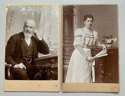 Victorian Cabinet Cards, Arthur & Lilian Watson, Cowes, Dated 1897 & 1898