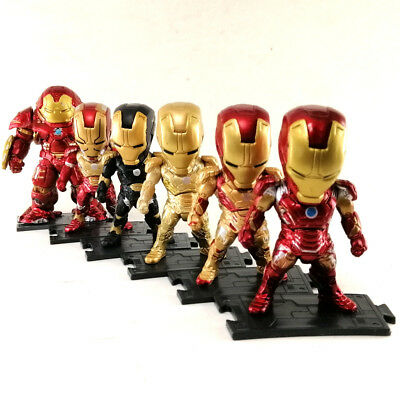"""IRON MAN Lot 6 MARVEL AVENGERS 3.2"""" PVC Action Figures Super Hero Toy Collection"""