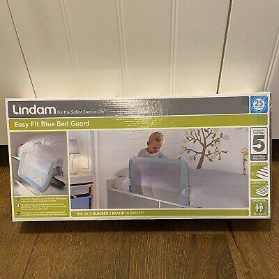 NEW Lindam Easy Fit Folding Bed Guard - Blue 051514 - NEW SEALED BOX