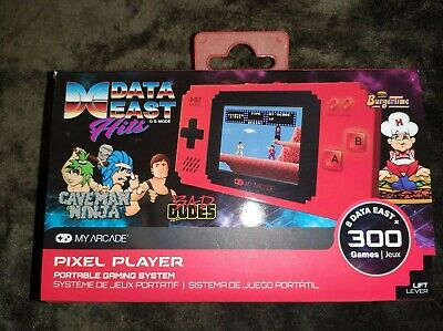 MY ARCADE Pixel Player Portable Handheld 300 Video Games Built-in.Data East Hits