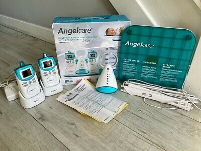Angelcare Deluxe AC401-2P Movement & Sound Baby Care Dual Monitor Boxed