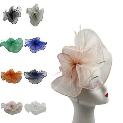 Womens Large Fascinator Sinamay Ladies Wedding  Day Race Royal Ascot Hatinator