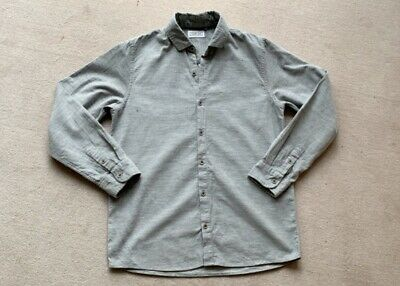 Boys Age 13 Grey Cord Like Shirt Excellent Cond