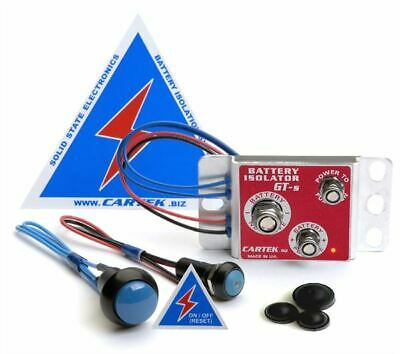 Cartek Battery Isolator Kit - Choice of Red OR Blue External Button