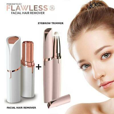 Electric Flawless Finishing Touch Facial Skin Hair Remover + Eyebrow Trimmer