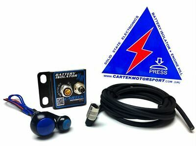 Cartek Battery Isolator XR Kit - Choice of Red OR Blue External Button