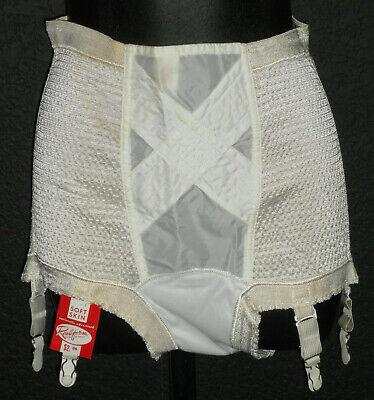 "NOS Vintage 50's ""Soft Skin"" Panties w/ Garters S 26-32"" Waist Rubber & Nylon"